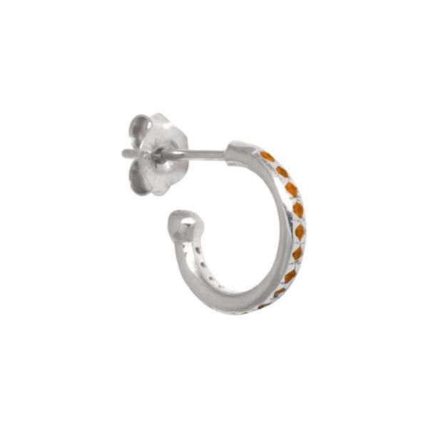 Mix & Match single orange zirconia hoop
