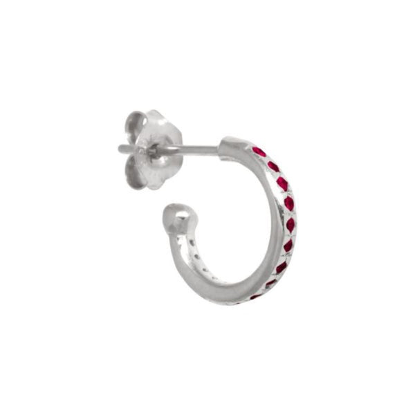 Mix & Match single ruby zirconia hoop