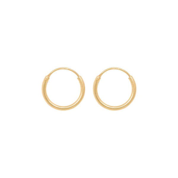 Tiny hoops 10 mm guld