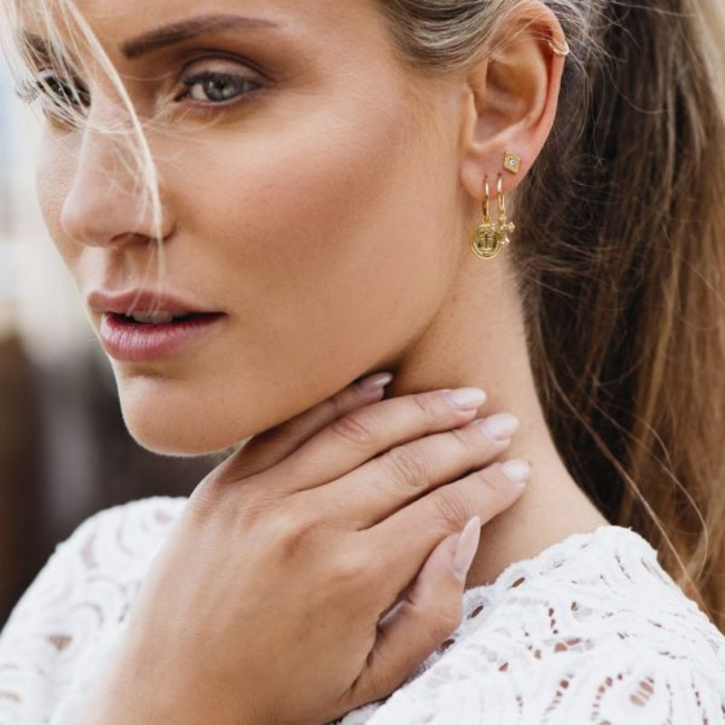 Image of   Tiny hoops 10 mm guld