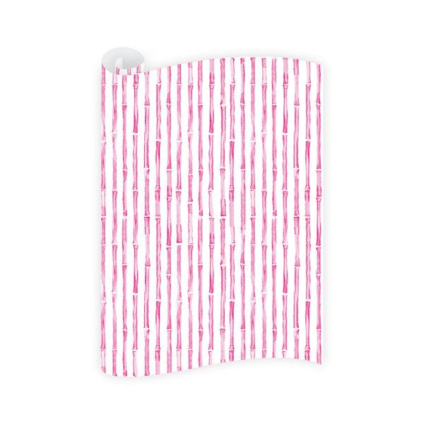Bamboo Pink Wrapping Paper Roll