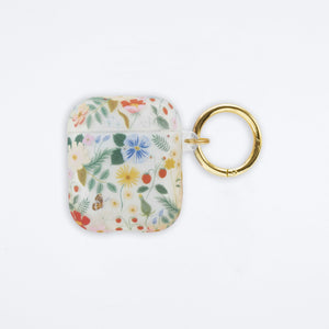 Clear Strawberry Fields Airpod Case