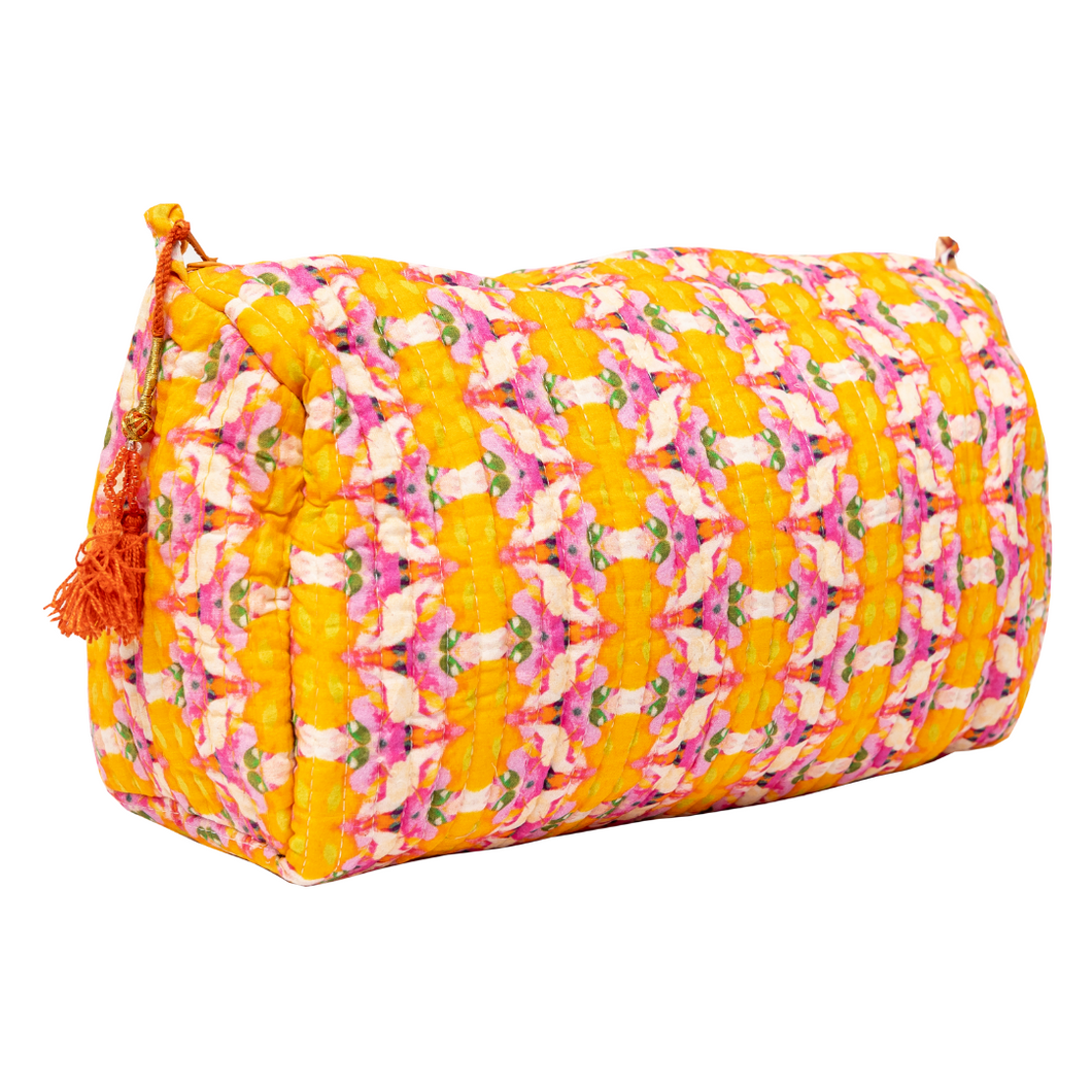 Flower Child Marigold Cosmetic Bag - Large