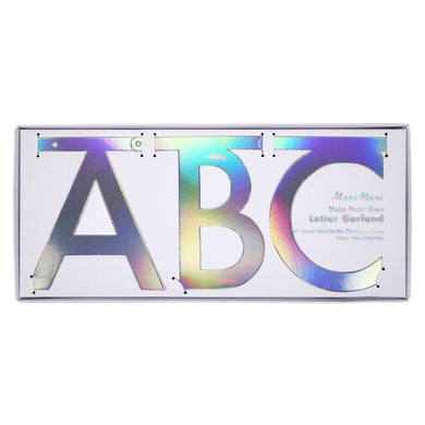 Silver Holographic Letter Garland Kit