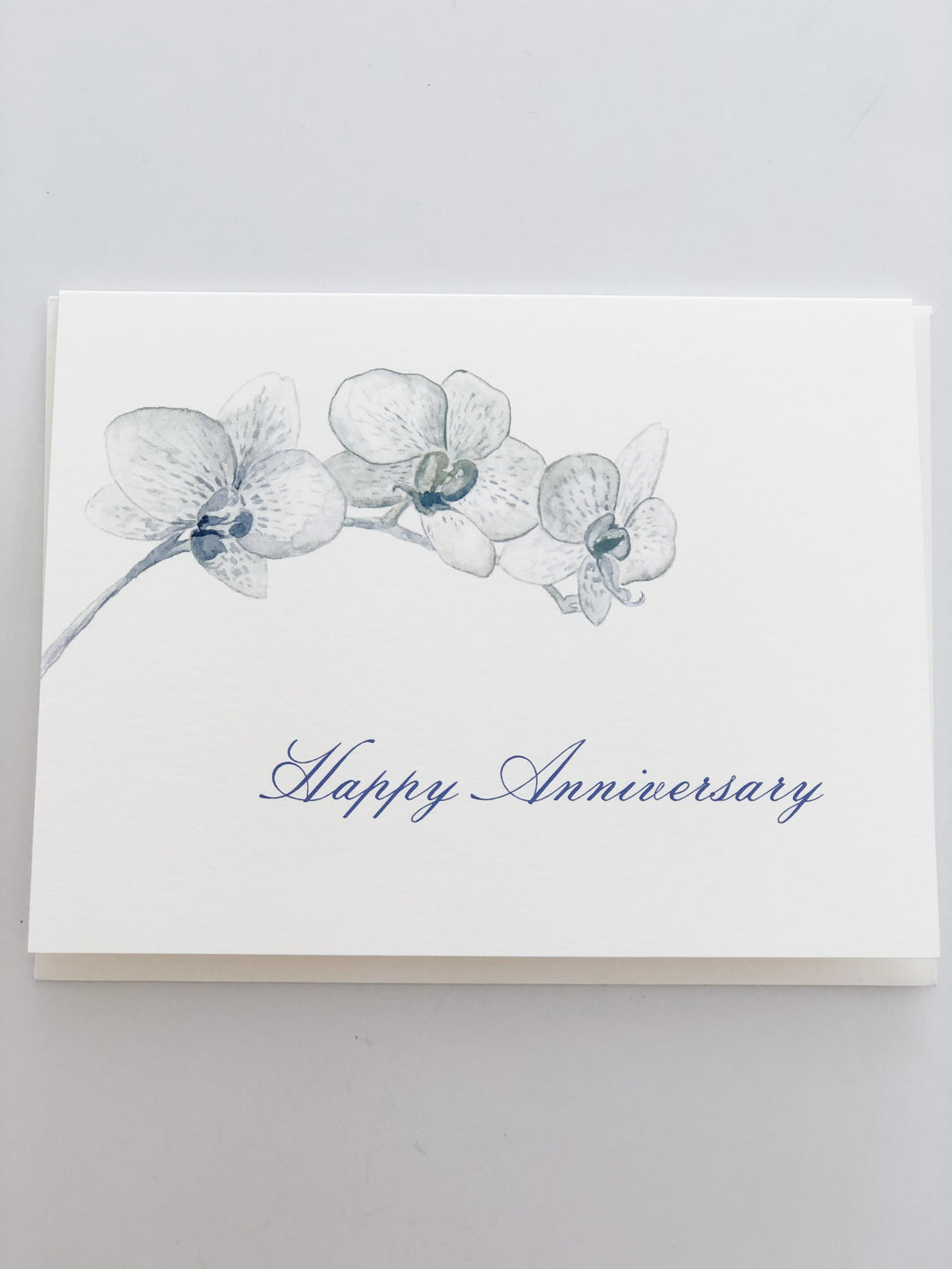 Happy Anniversary with Blue Floral Card