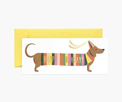 Hot Dog Long Card