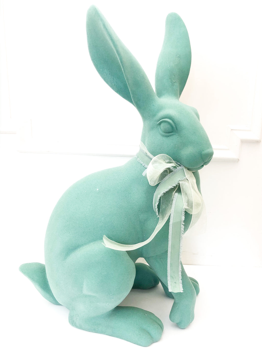 Flocked Resin Rabbit 25