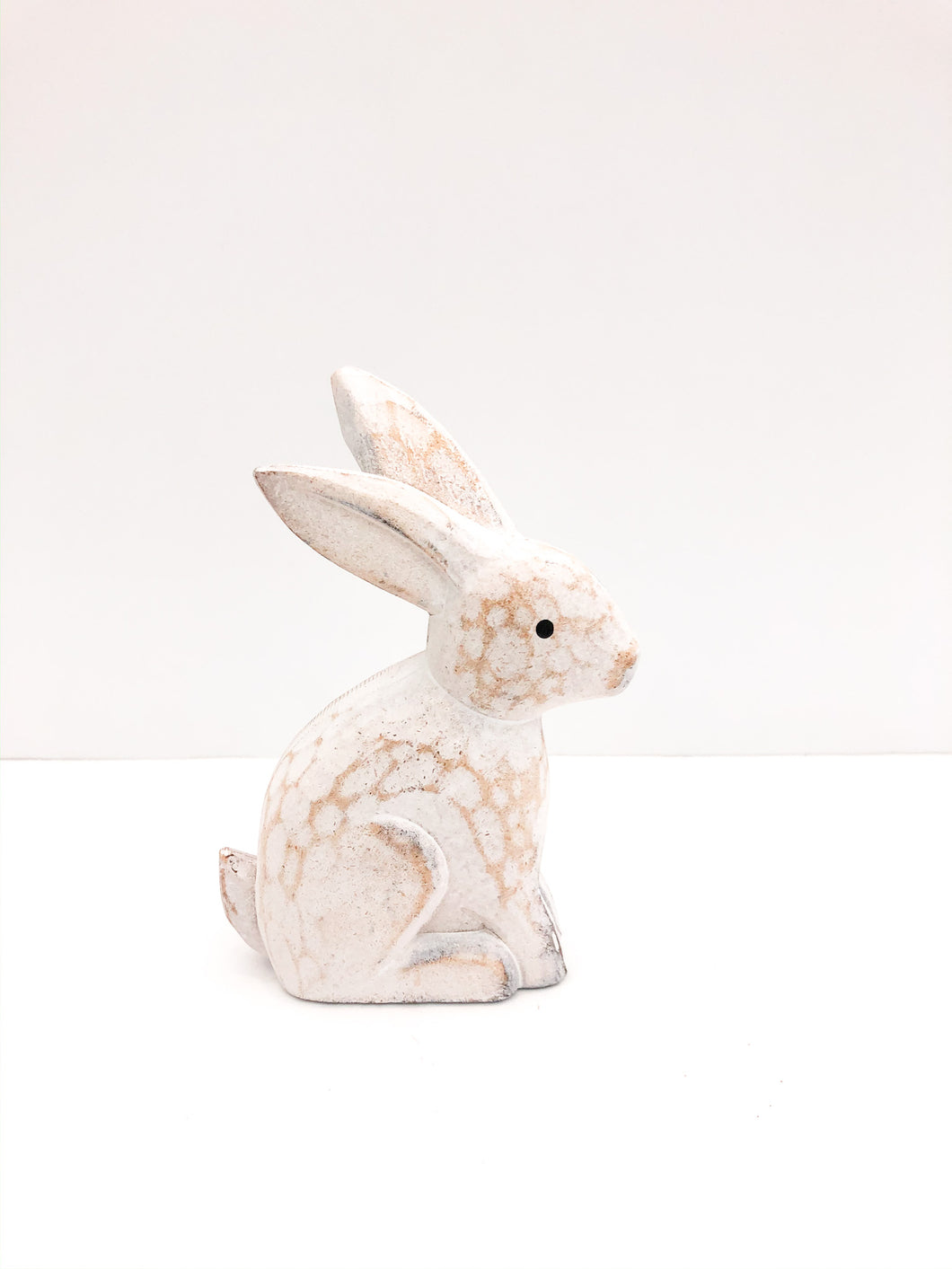 Small White Carved Bunny
