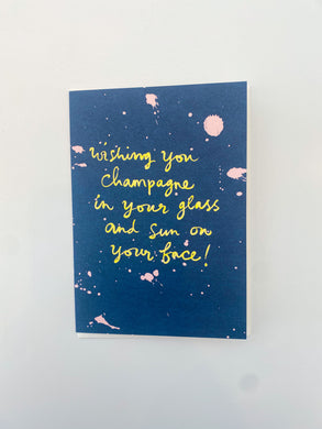 Wishing You Champagne Card