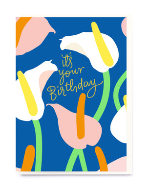 Lillies Birthday Card