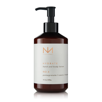 No. 4 Hand and Body Lotion Pomegranate, Cassis, Rhubarb