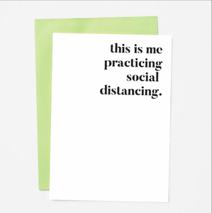 Practicing Social Distancing Greeting Card