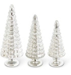 Silver Mercury Glass Trees on Pedestals