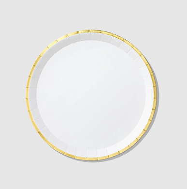 White and Gold Classic Large Plates