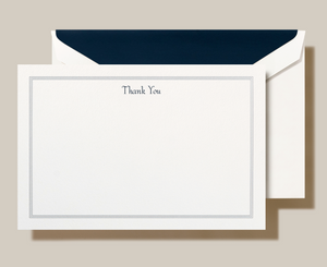 Crane & Co. Navy Triple Hairline Thank You Cards