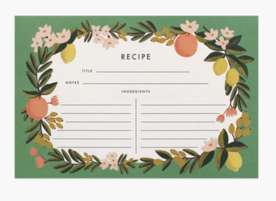Citrus Floral Recipe Card Pack