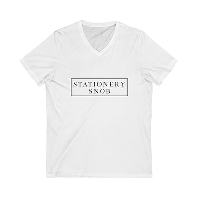Stationery Snob V-Neck Tee