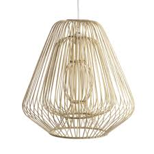 Bamboo & Rattan Layered Bell Shape Pendant - Natural