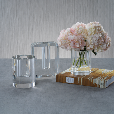 Beveled Crystal Vase