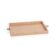 Load image into Gallery viewer, Blush Raffia Tray - Small