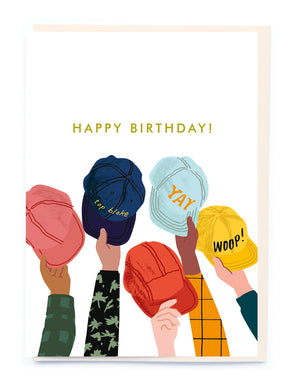 Happy Birthday Ball Caps Card