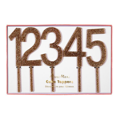 Gold Number Cake Toppers