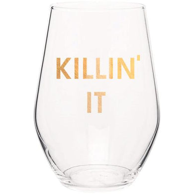 Gold Foil Wine Glass