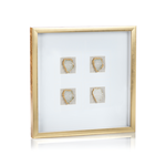 Load image into Gallery viewer, Gold Multi Framed Crystals