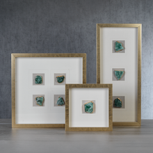 Load image into Gallery viewer, Tall Gold Framed Emerald Crystal