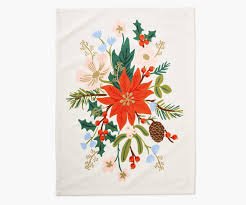 Holiday Bouquet Tea Towel