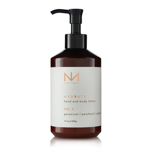 NO. 3 Hand and Body Lotion Crushed Geranium, Patchouli and Pepper