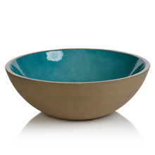 Load image into Gallery viewer, Aqua Blue Mango Wood Bowl