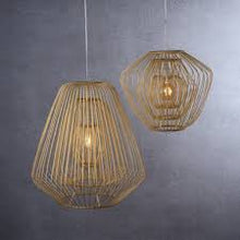Load image into Gallery viewer, Bamboo & Rattan Layered Bell Shape Pendant - Natural