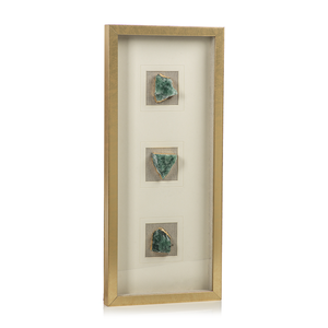 Tall Gold Framed Emerald Crystal