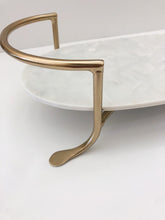 Load image into Gallery viewer, Marble Tray with Brass Stand