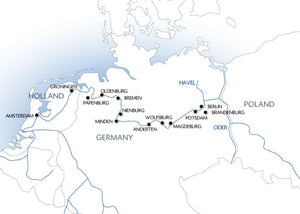 From Berlin to Amsterdam (port-to-port cruise)
