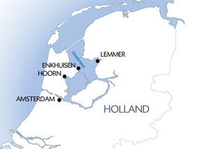 Cruise on the IJsselmeer, one of Holland's treasures (port-to-port cruise)