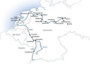 From Berlin to Strasbourg (port-to-port cruise)