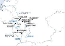 5 Different Rivers: The Rhine, Neckar, Main, Moselle, and Sarre