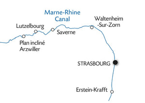 Cruise on the Marne-Rhine Canal from Strasbourg to Lagarde
