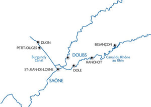Burgundy barge cruise and the Rhone Rhine Canal