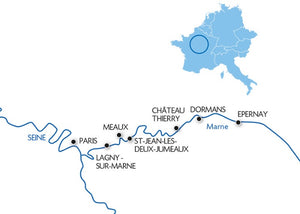 Cruise on the Marne-Rhine canal from Epernay to Paris