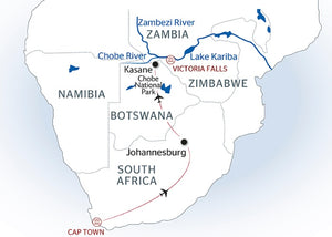 Southern Africa: travel to the ends of the earth with extended stay at the Cape of Good Hope (port-to-port cruise)