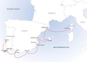 The Spanish Coast, the Algarve Region, and Lisbon (port-to-port package)