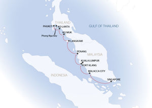 Cruise between Singapore and Phuket (port-to-port cruise)