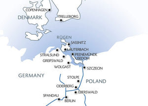 From Berlin to Copenhagen The Havel, the Oder and the Baltic sea (port-to-port cruise)