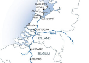 The treasures of the north through Holland and Belgium