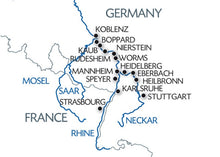 The romantic Rhine Valley and the rock of the Lorelei (port-to-port cruise)