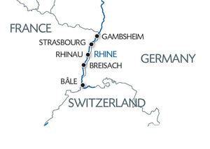 Hiking along 3 borders: France, Germany and Switzerland (port-to-port cruise)