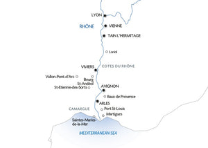 A trip to admire the beautiful scenery of the Rhône valley (port-to-port cruise)